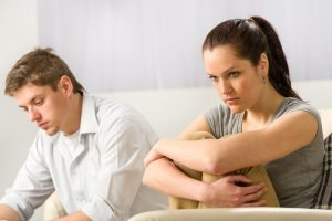 Adobestock Unhappy couple sitting after argument in bitterness