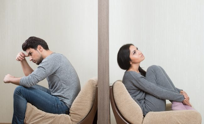 Leave marriage - AdobeStock emotionally distant spouse Unlovable Conflict between man and woman