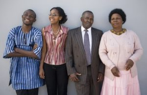 Ties with family Dollar Photo - Happy African Family