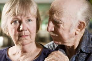 Alzheimers Dollar Photo - Close Up Portrait of Worried Senior Couple