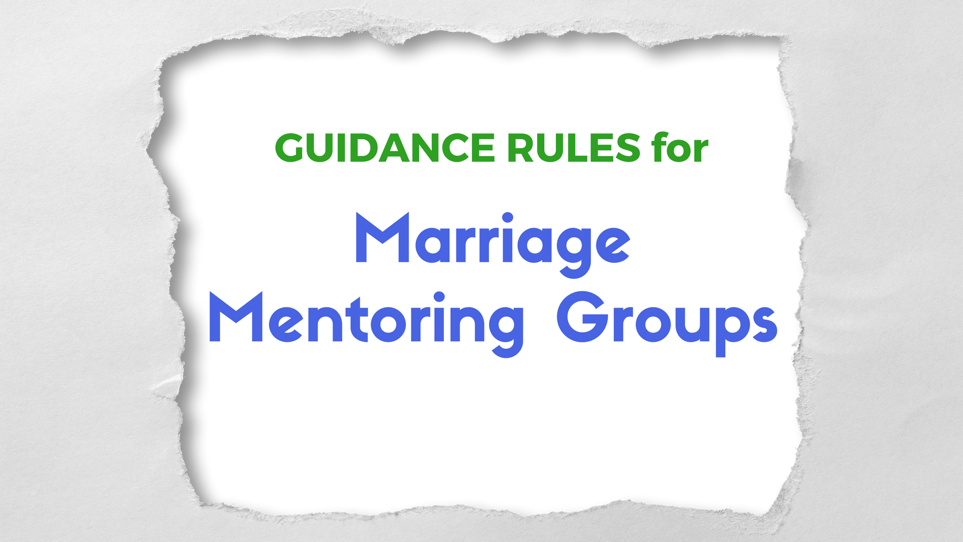 GUIDANCE RULES Marriage Mentoring - Canva - Pixabay