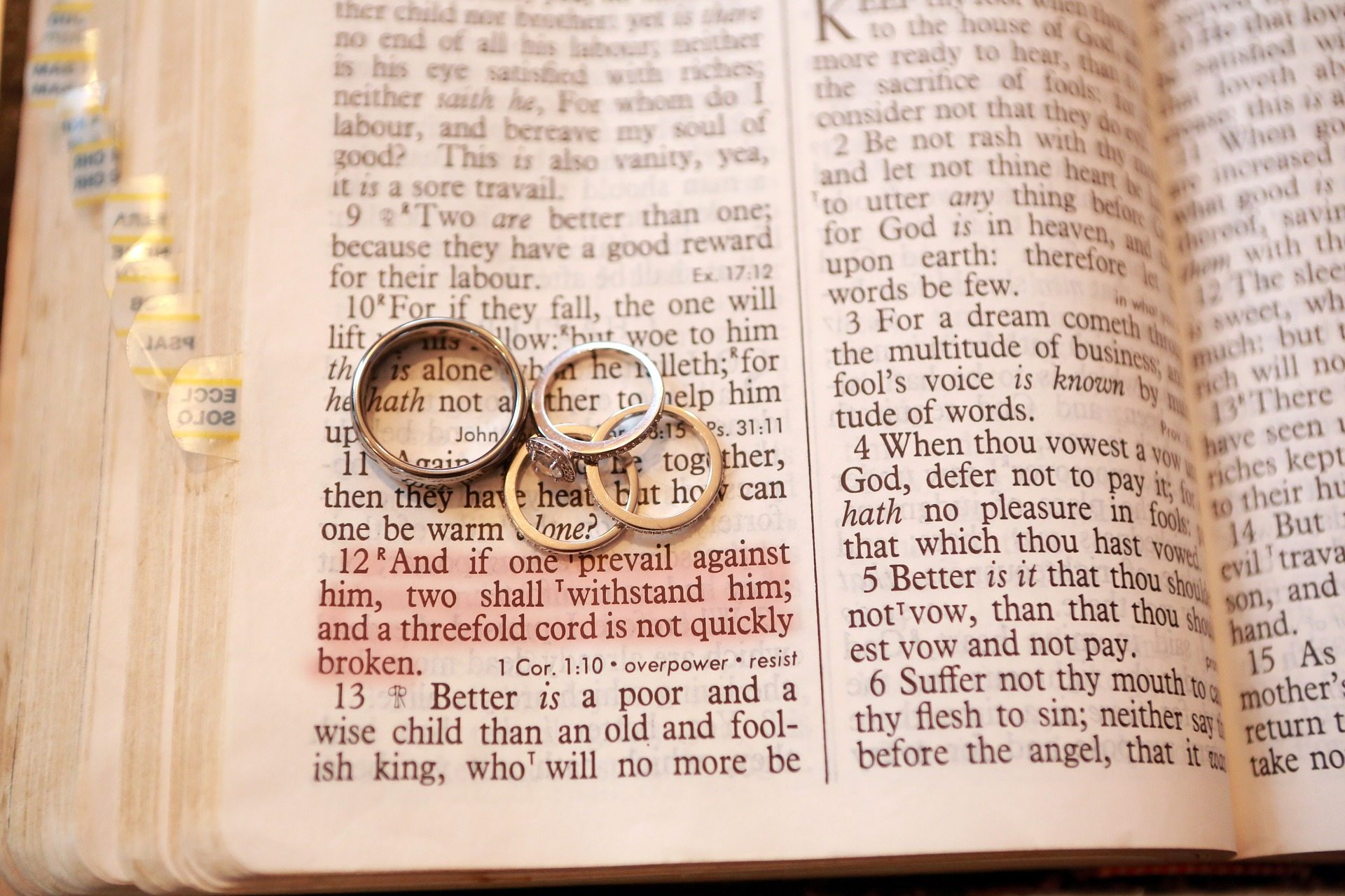 wedding celebration scripture over shaped bible a heart stock online and photo shadow ring rings