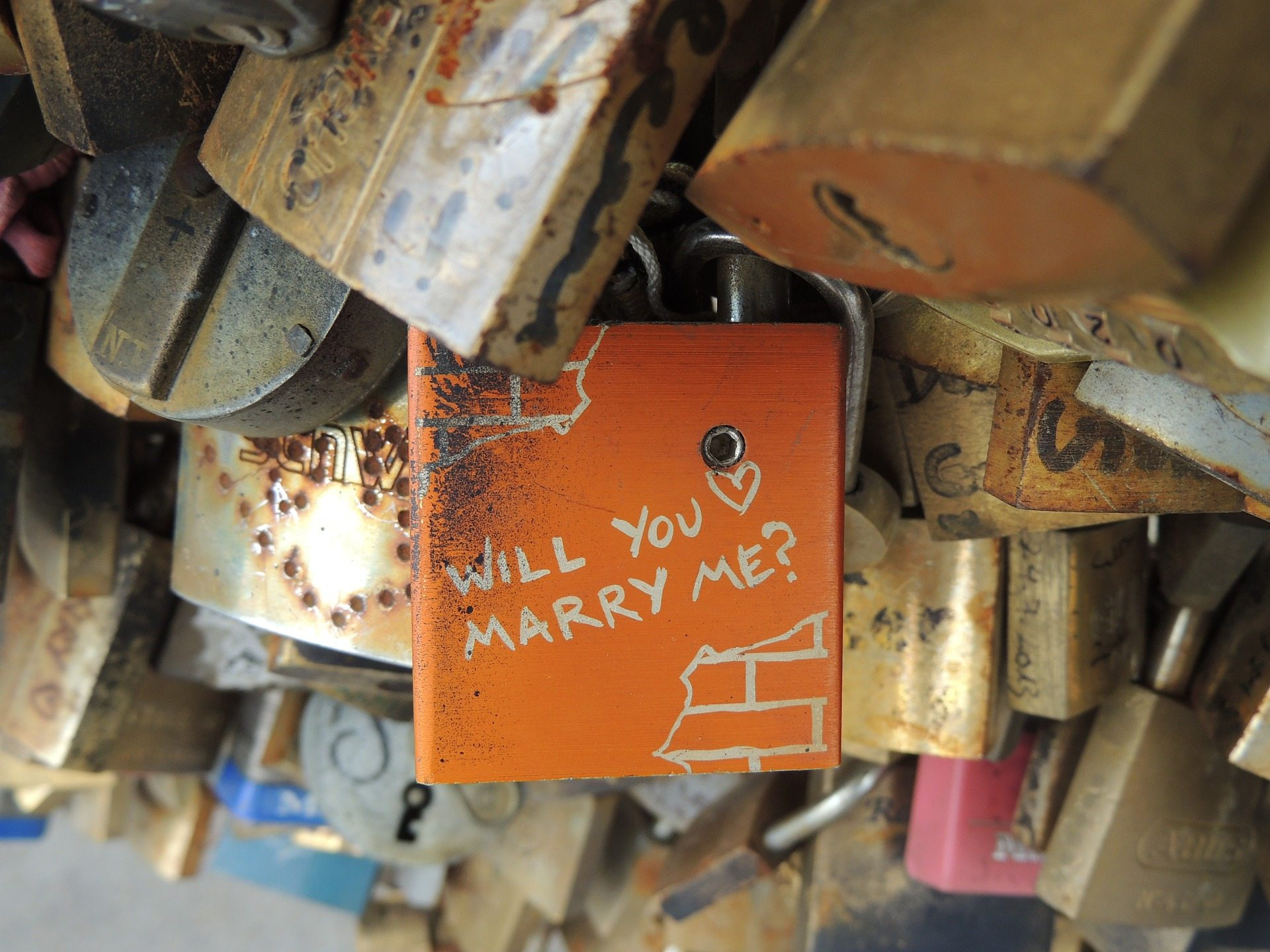 marriage proposals Pixabay lock-bridge-959844_1920