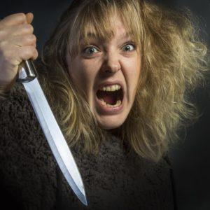 Husband Abuse Dollar Photo - Psychotic Woman