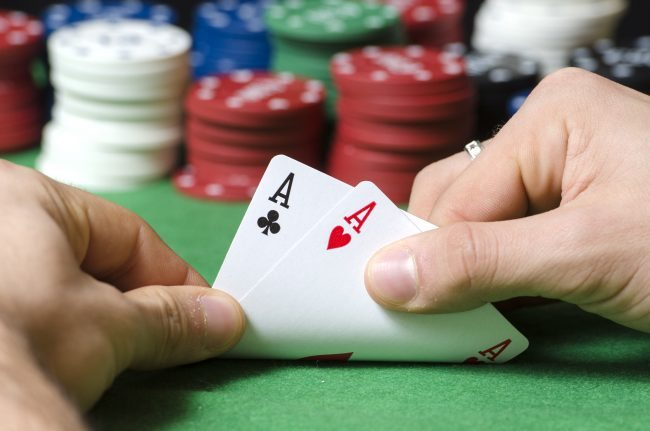 Gambling - Adobe stock double ace in poker