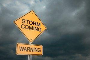 Warning signs crisis - Dollar Photo Storm Coming