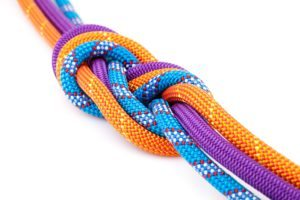 Three strands Dollar Photo eight rope knot