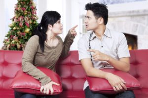 Calming holiday tensions - Dollar Photo - Couple quarreling