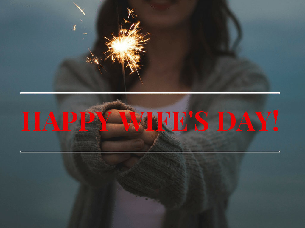 HAPPY WIFE'S DAY! - Canva - Pixabay background