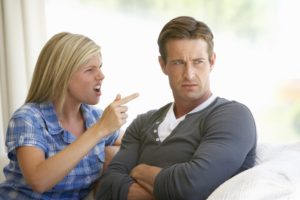 Confronters Dollar Photo - Young Couple Having Argument At Home
