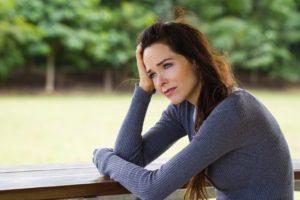 Real life - Photoclub - Sad depressed woman sitting outdoors