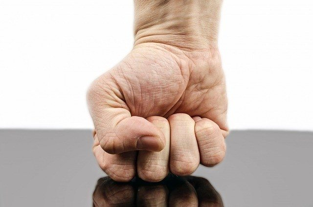 man's angry fist dealing with anger - Pixabay punch-316605_640