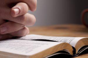 Honesty with God Praying Dollar Photo - Praying over Bible