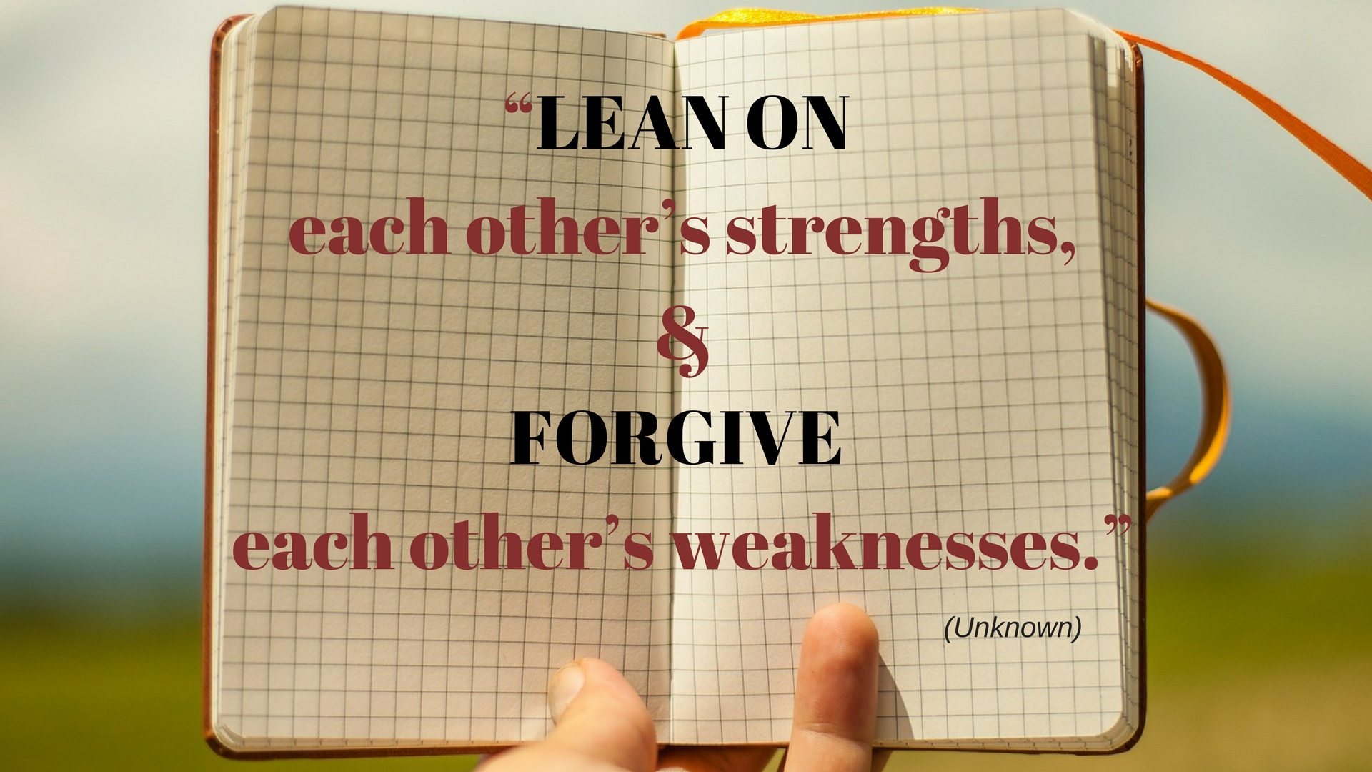 Lean on each other's strengths - quotes that teach - Pixabay - Canva
