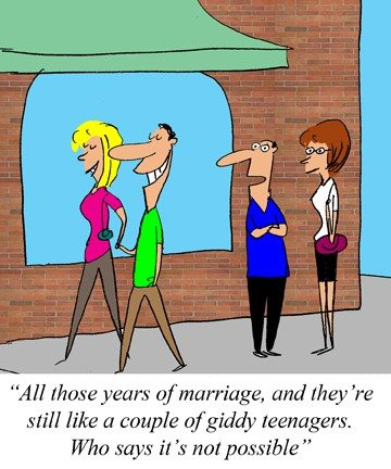 PDA Public display affection love and communication - Jerry King cartoon Aug9