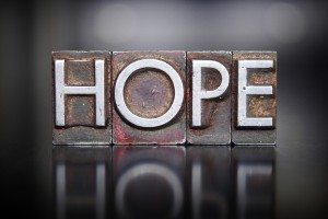 Hope Letterpress Dollar Photo