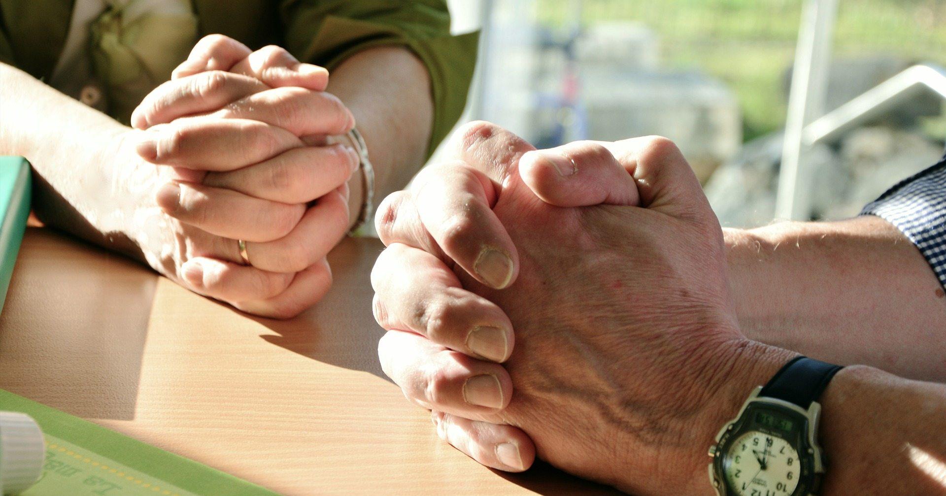 Petitioning prayer - Pixabay hands-2168901_1920