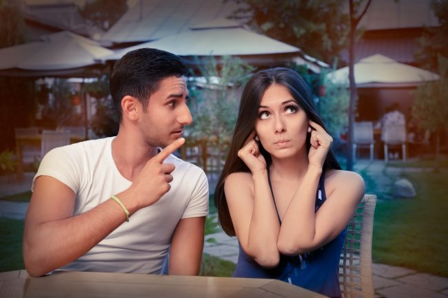 Right fighting Adobe stock Cute Young Couple Arguing