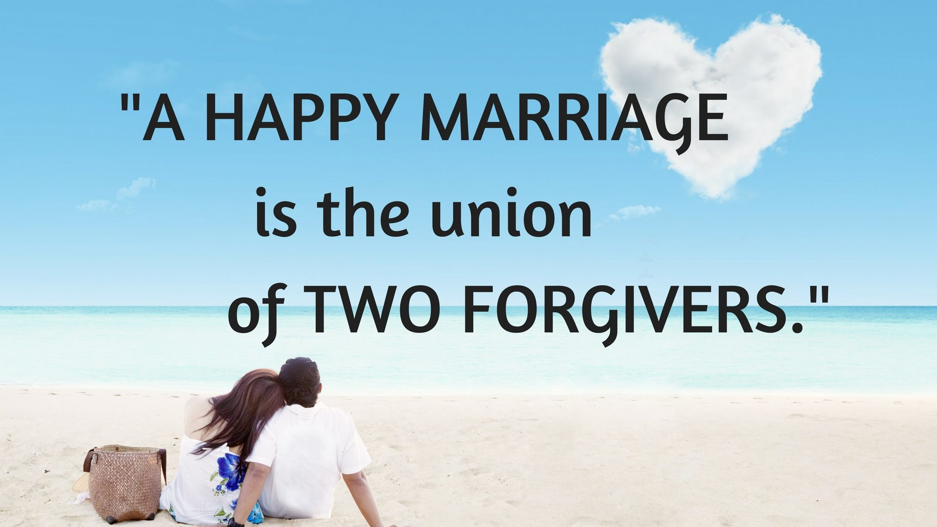 HAPPY MARRIAGE union of two forgivers. - Favored marriage advice - Stockadobe