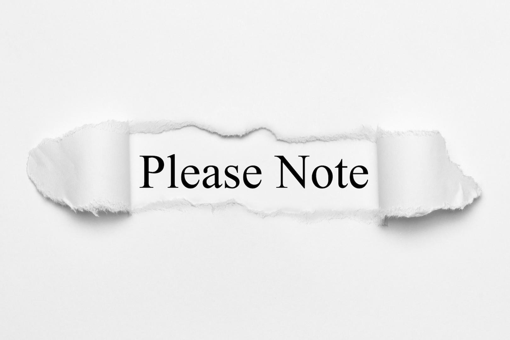 Please Note - AdobeStock_135190548